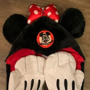Furry Disney Mouseketeers Hat with Gloves